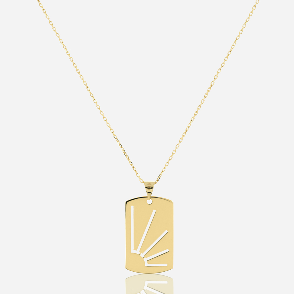 Side Rays Tag Necklace
