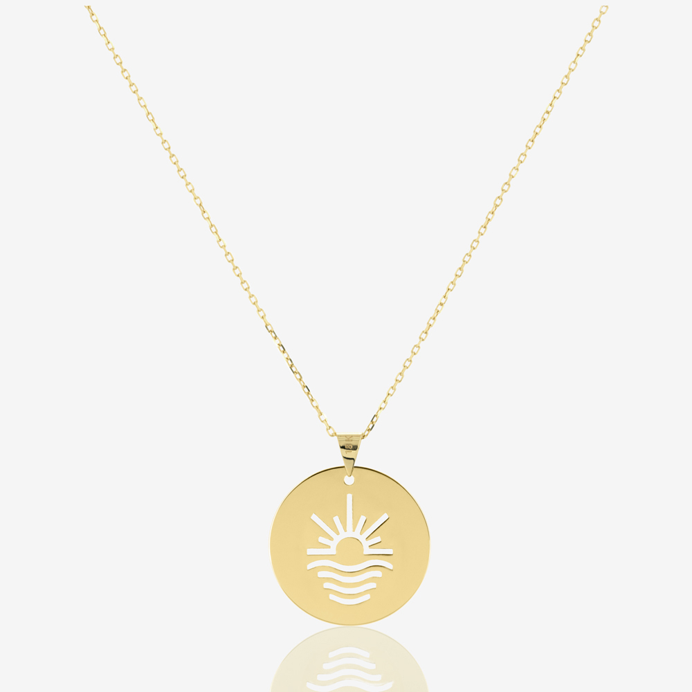Sun and Sea Coin Necklace