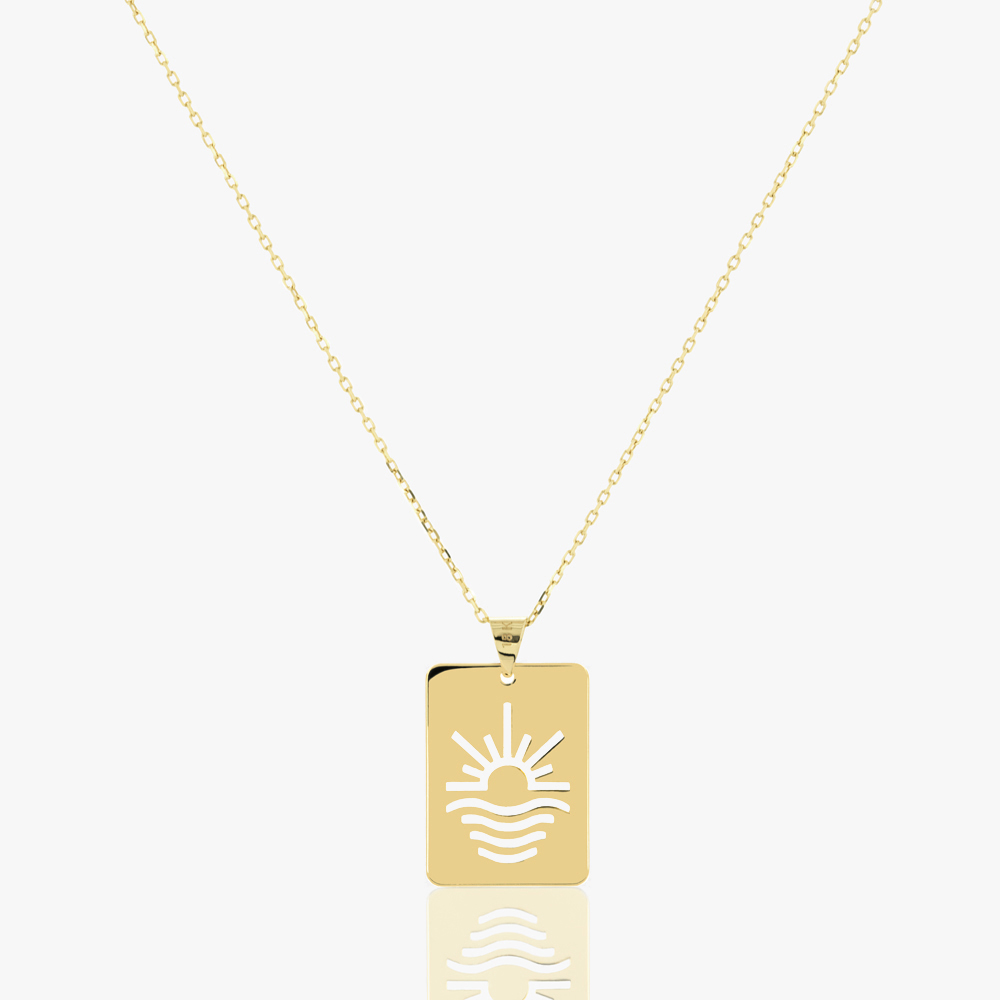 Sun and Sea Tag Necklace