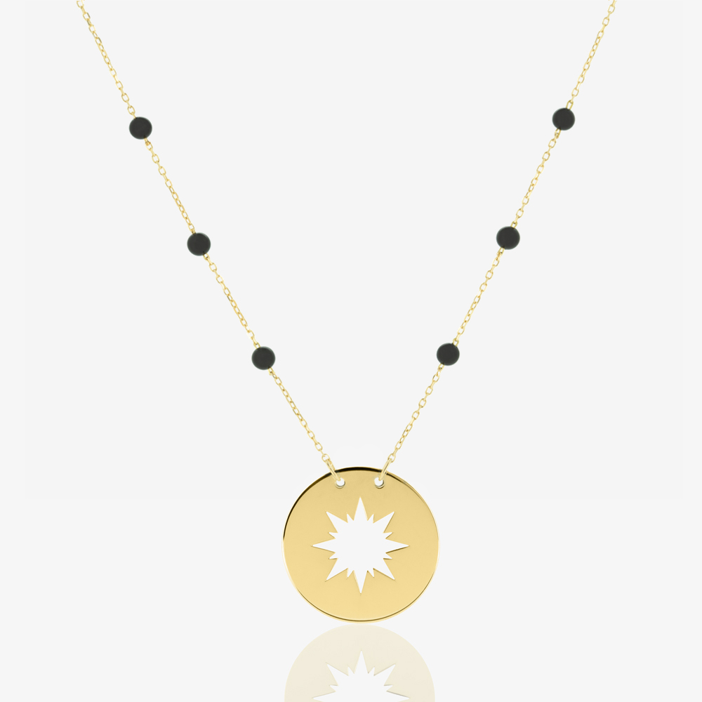 Sunshine Necklace in Black Onyx