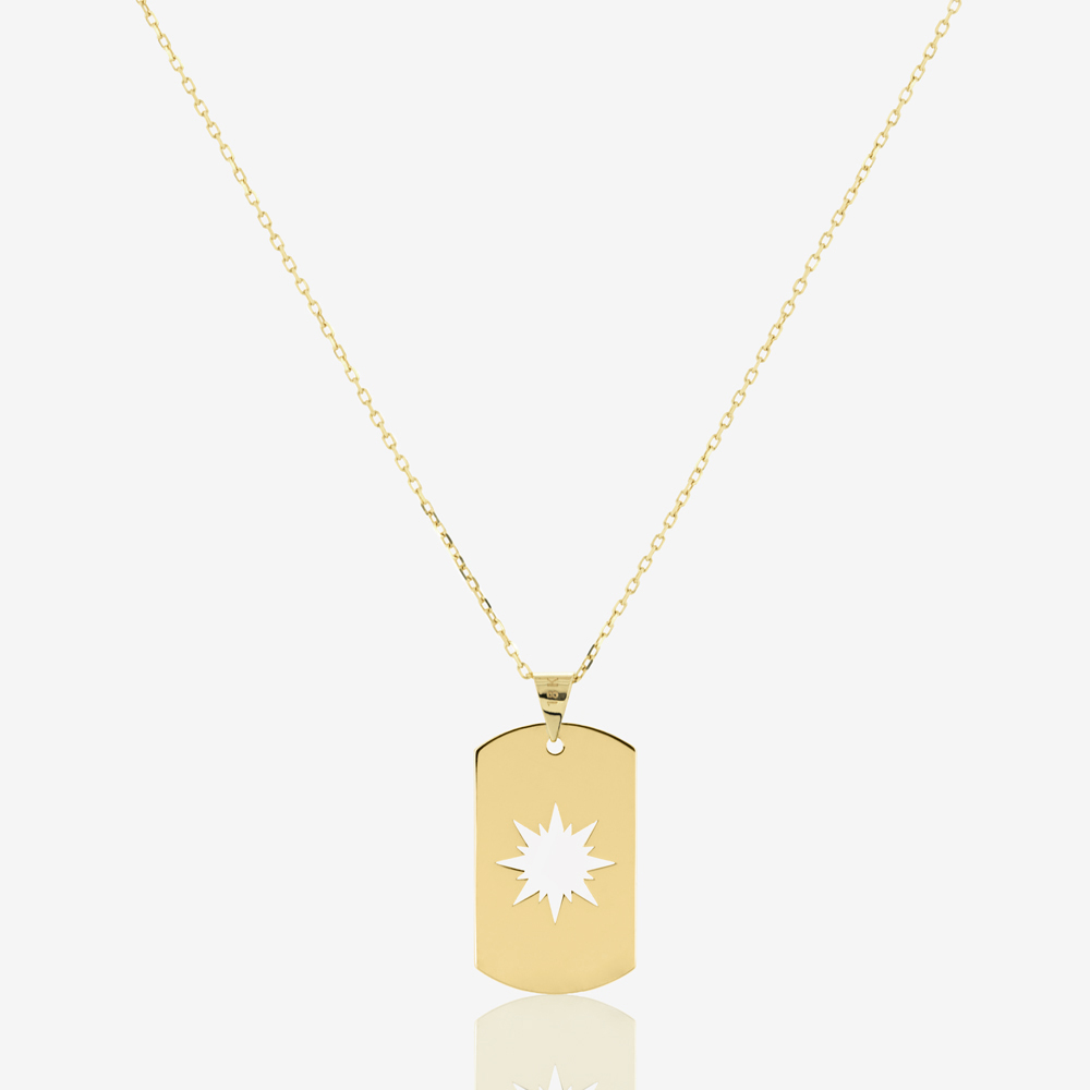 Sunshine Tag Necklace