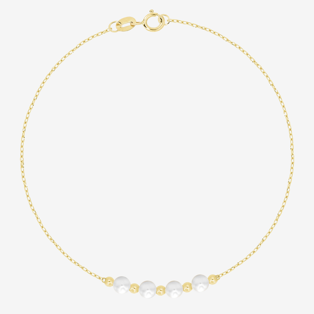Pearl and Gold Beads Bracelet