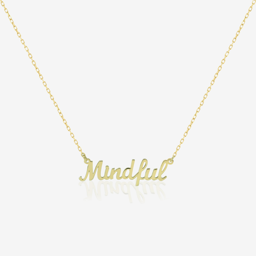 Mindful Mantra Necklace