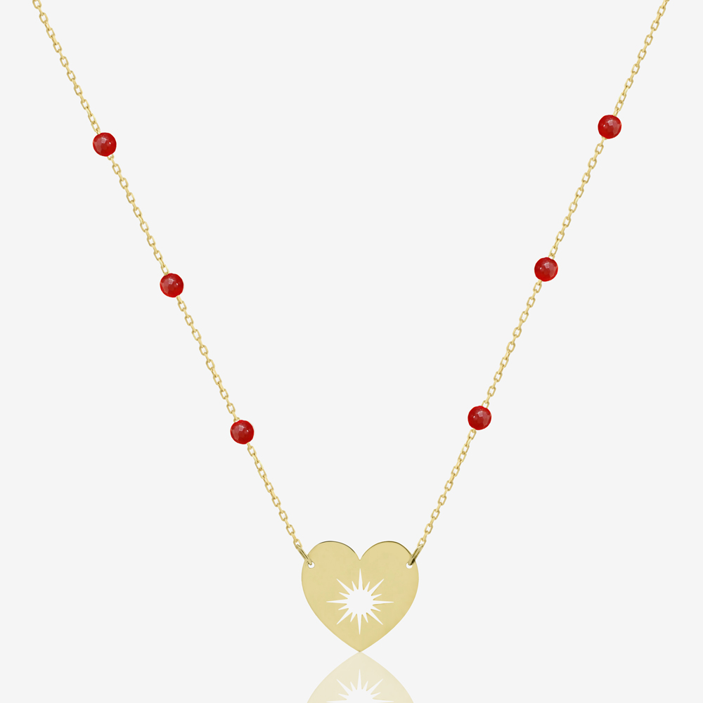 My Sunshine Necklace in Charming Red Carnelian