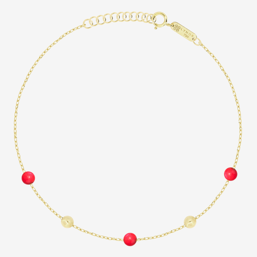 Margo Bracelet in Red Coral