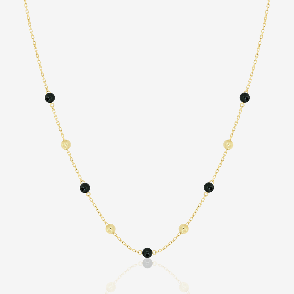 Margo Necklace in Black Onyx