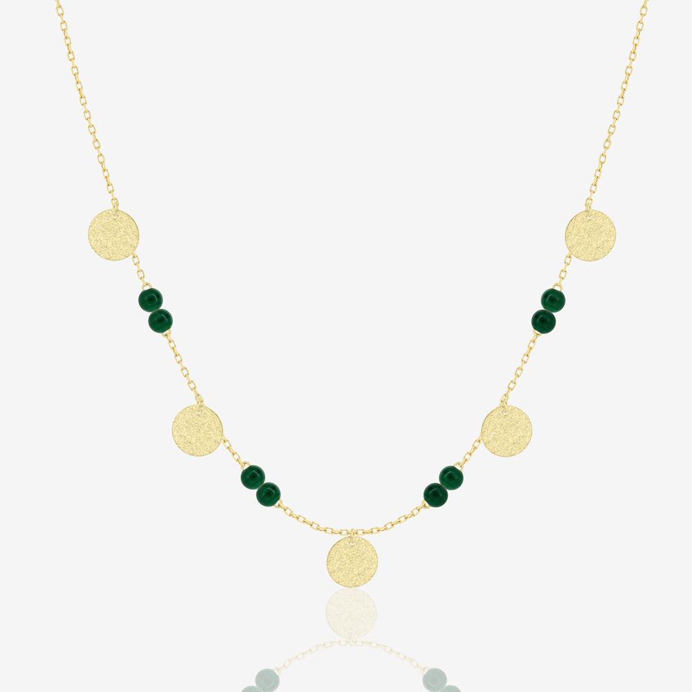 Berta Necklace in Green Malachite