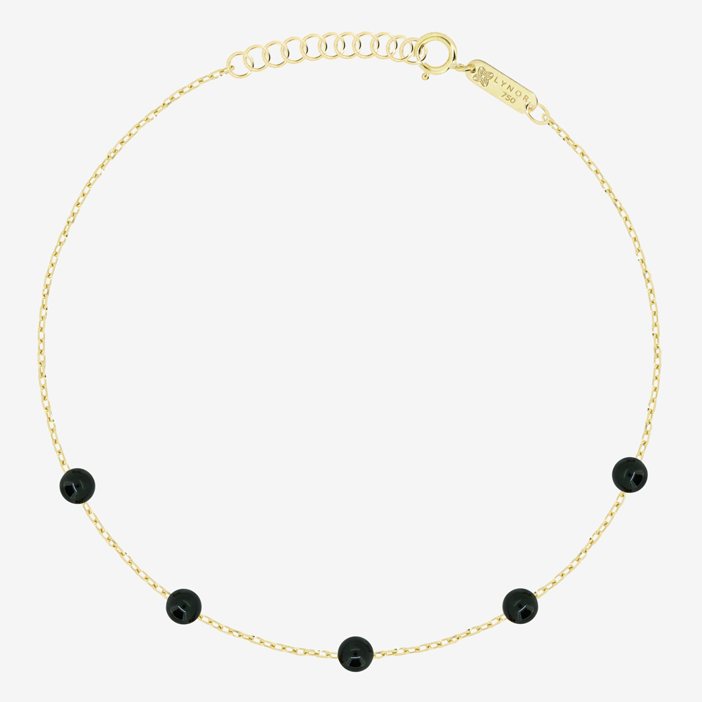 Beaded Bracelet in Black Onyx