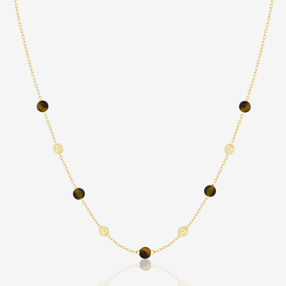 Margo Necklace in Tiger Eye