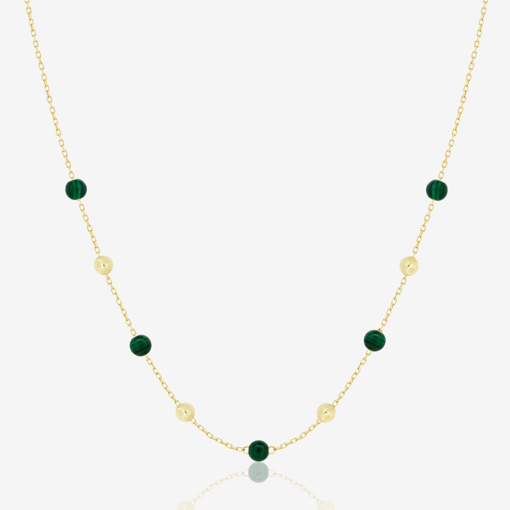 Margo Necklace in Green Malachite