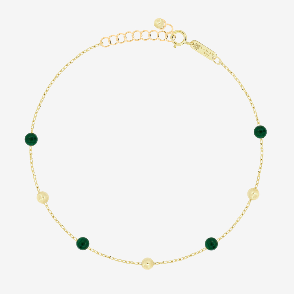 Margo Bracelet in Green Malachite