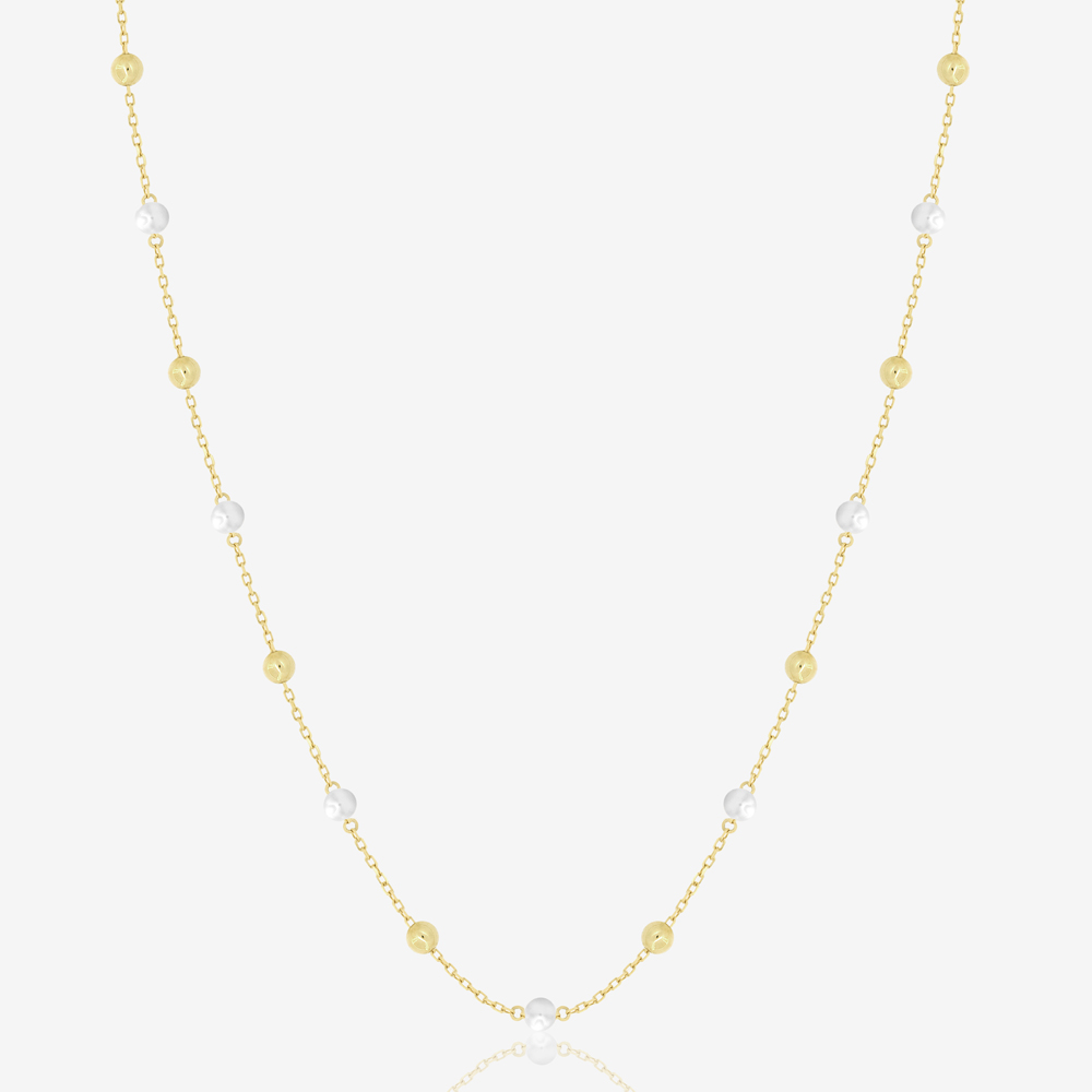 Long Margo Necklace in Freshwater Pearl
