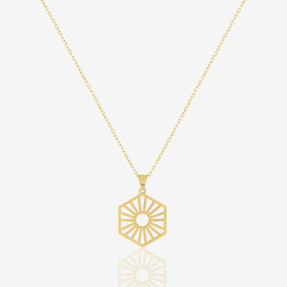 Hexa Sun Necklace