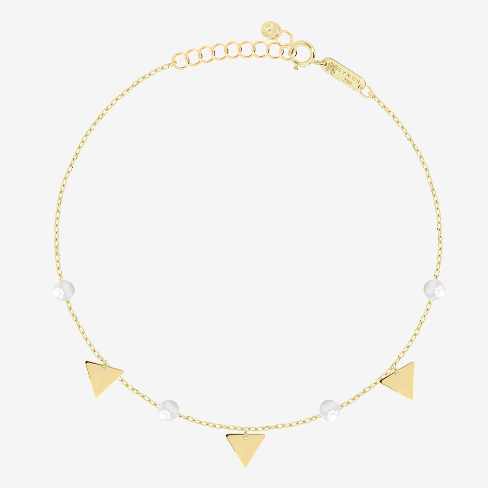 Triangles Bracelet in Pearl