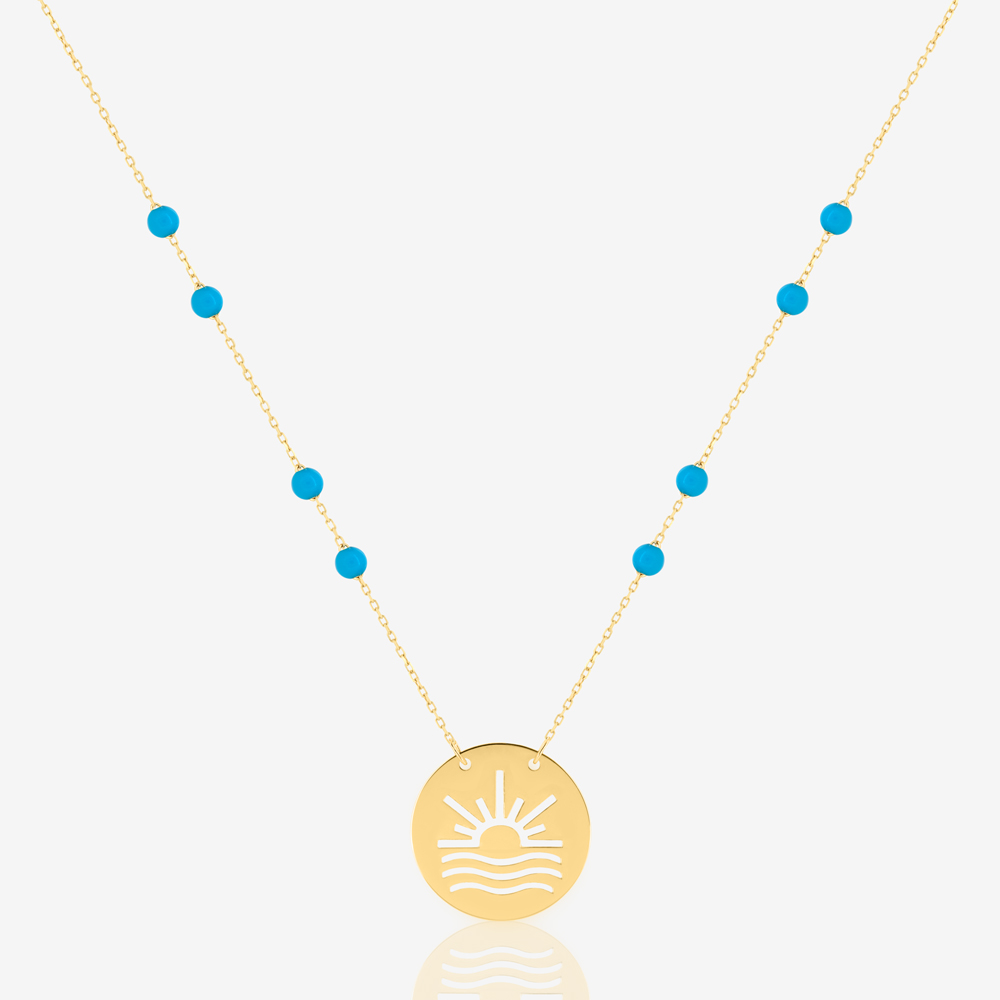 Sun and Sea Necklace in Turquoise