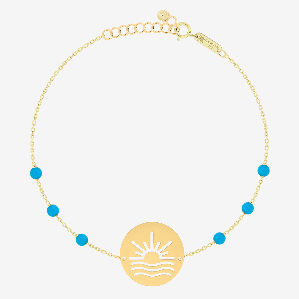 Sun and Sea Bracelet in Turquoise