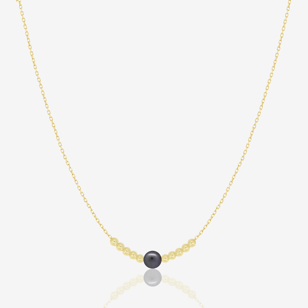 Reina Necklace in Black Pearl