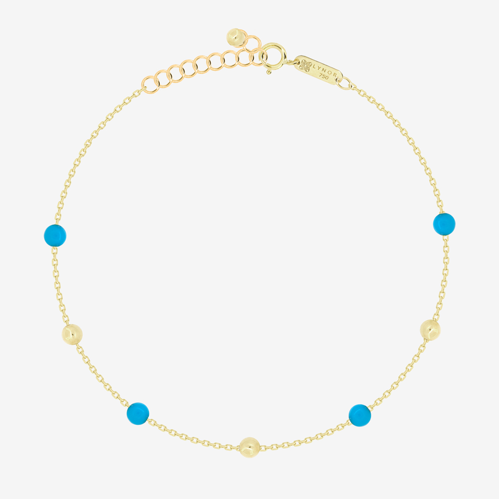 Margo Bracelet in Turquoise Beads