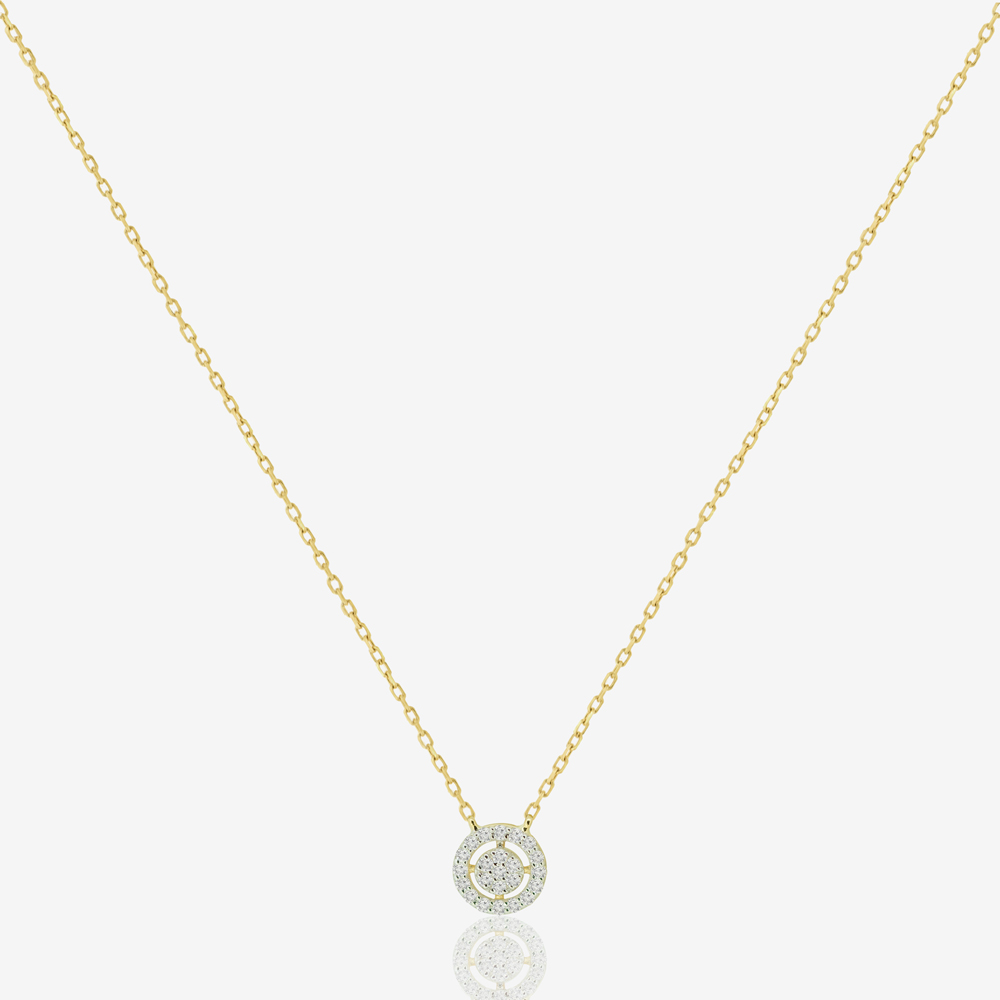 Mini Bianca Necklace in Diamond