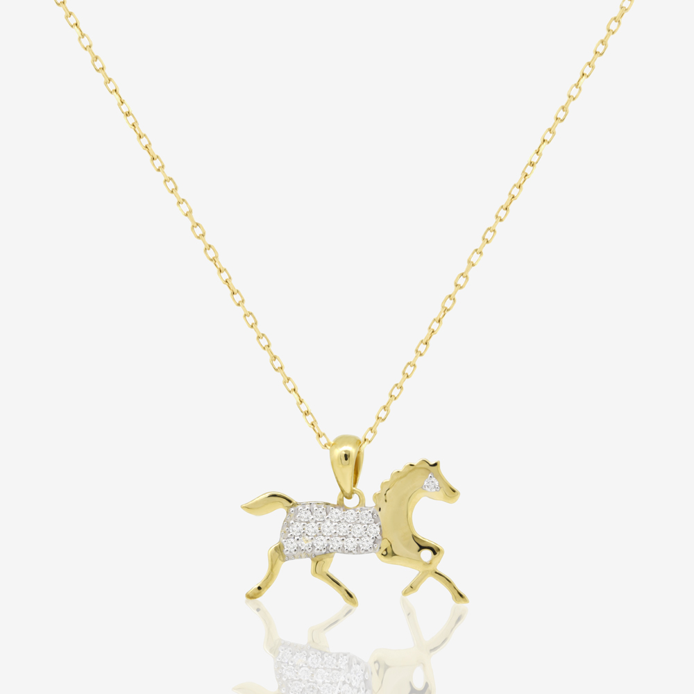 Horse Necklace in Diamond