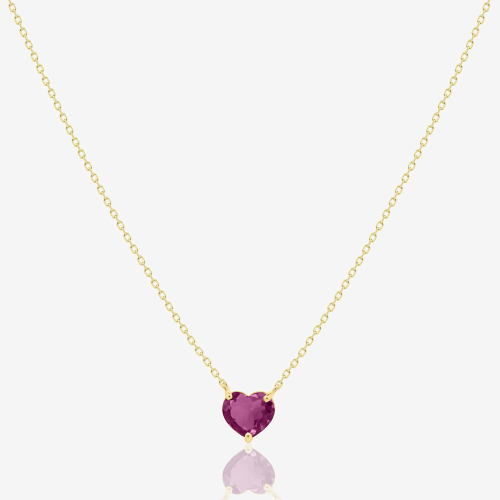 Love Necklace in Pink Tourmaline