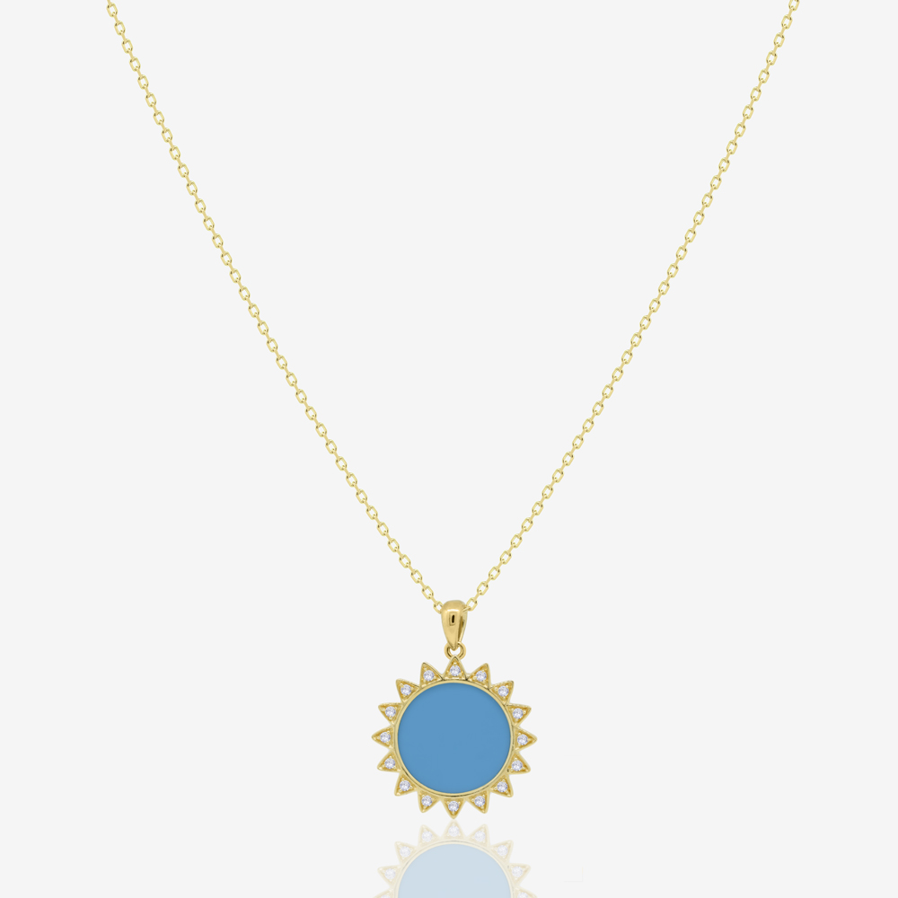 Sunshine Necklace in Turquoise