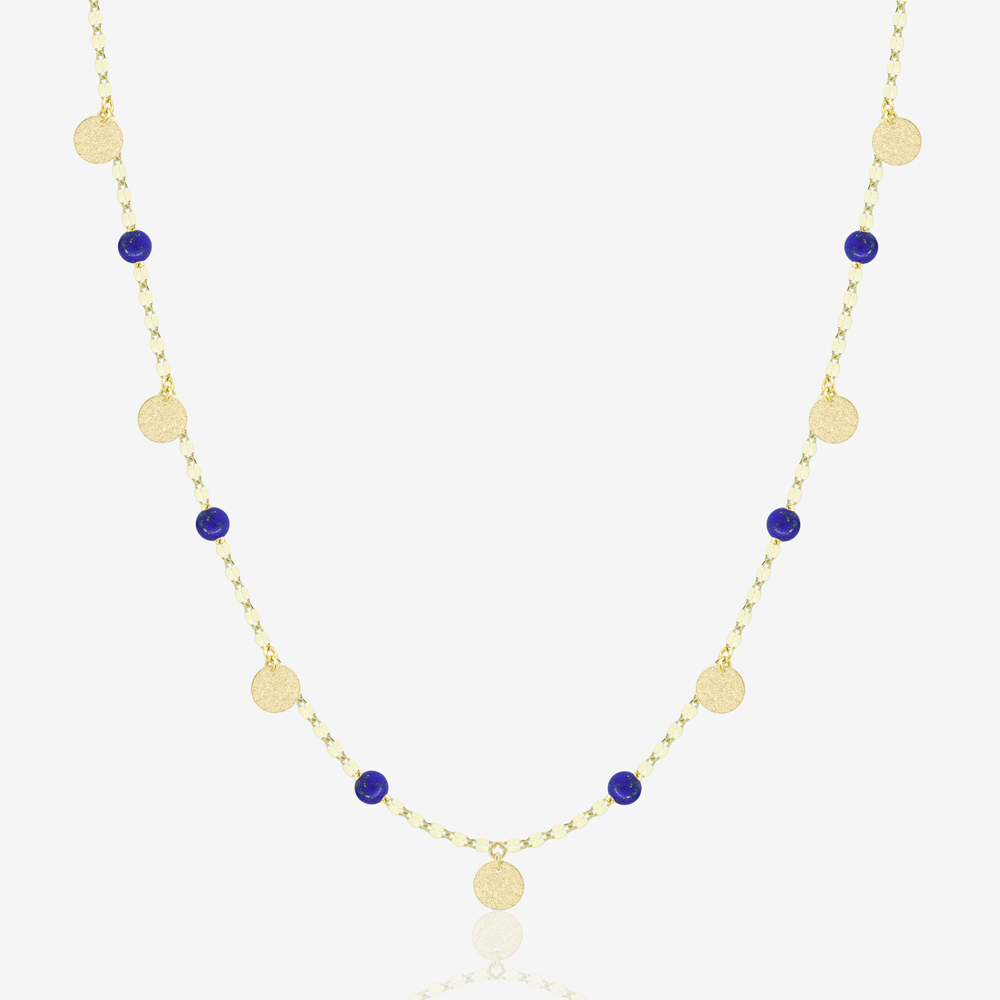 Zola Necklace in Lapis Lazuli