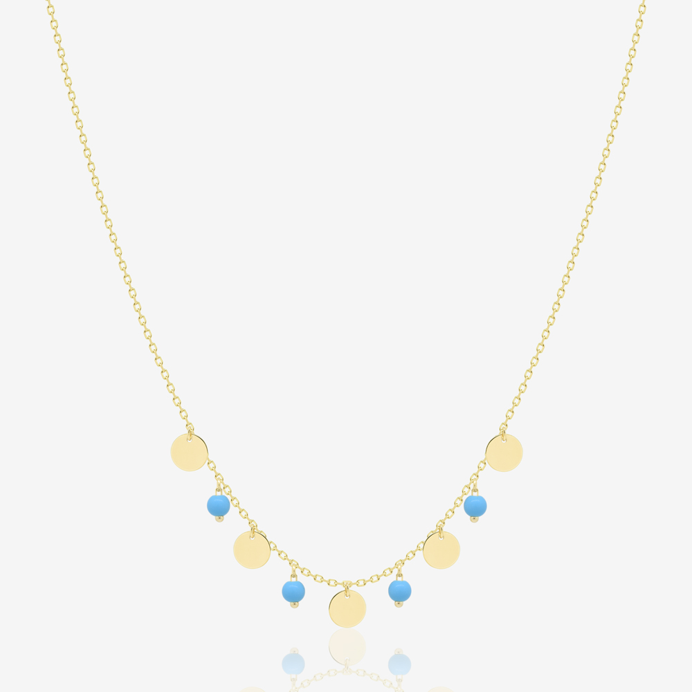 Milia Necklace in Turquoise
