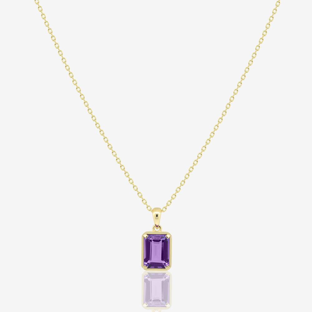 Amy Necklace in Amethyst