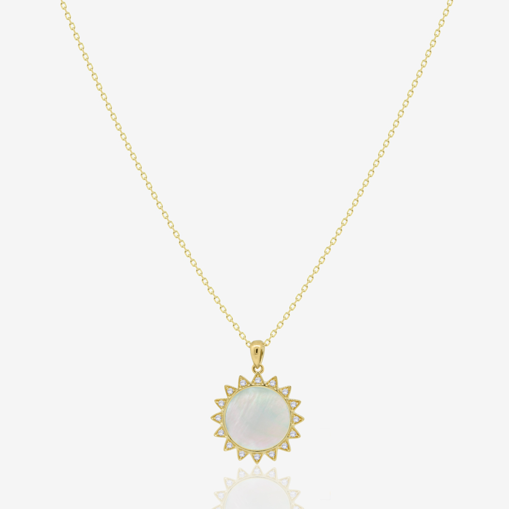 Sunshine Necklace in Mother of Pearl