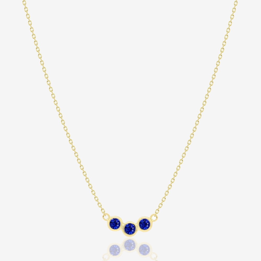 Sapphire Ray Necklace