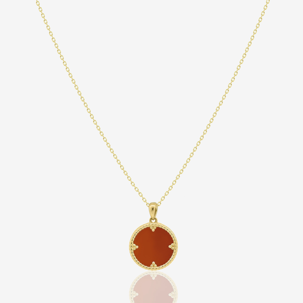 Avra Necklace in Red Carnelian