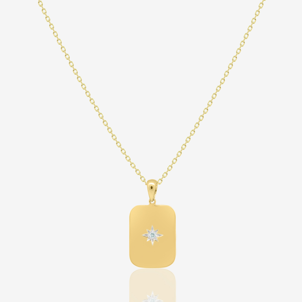 Star Icon Necklace in Diamond