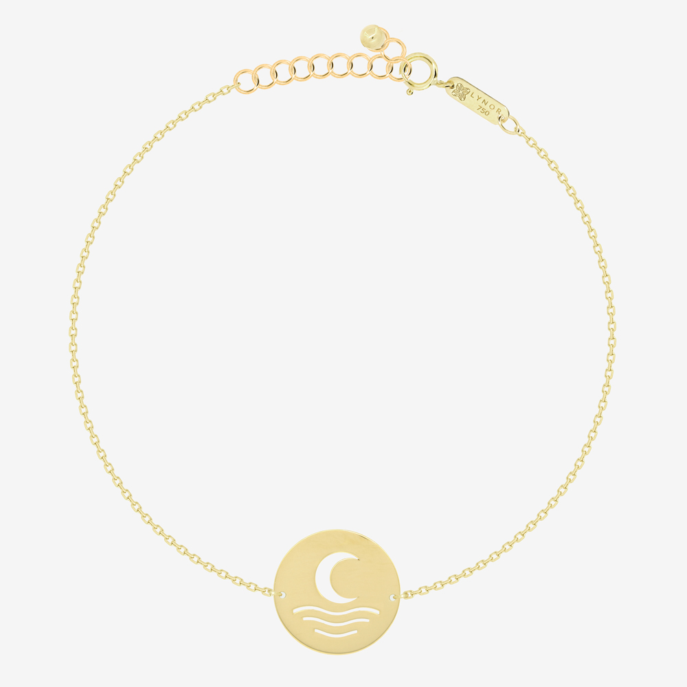 Moon and Sea Coin Bracelet