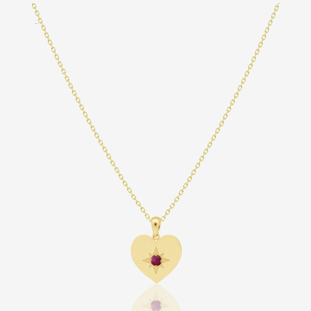 Heart Necklace in Ruby