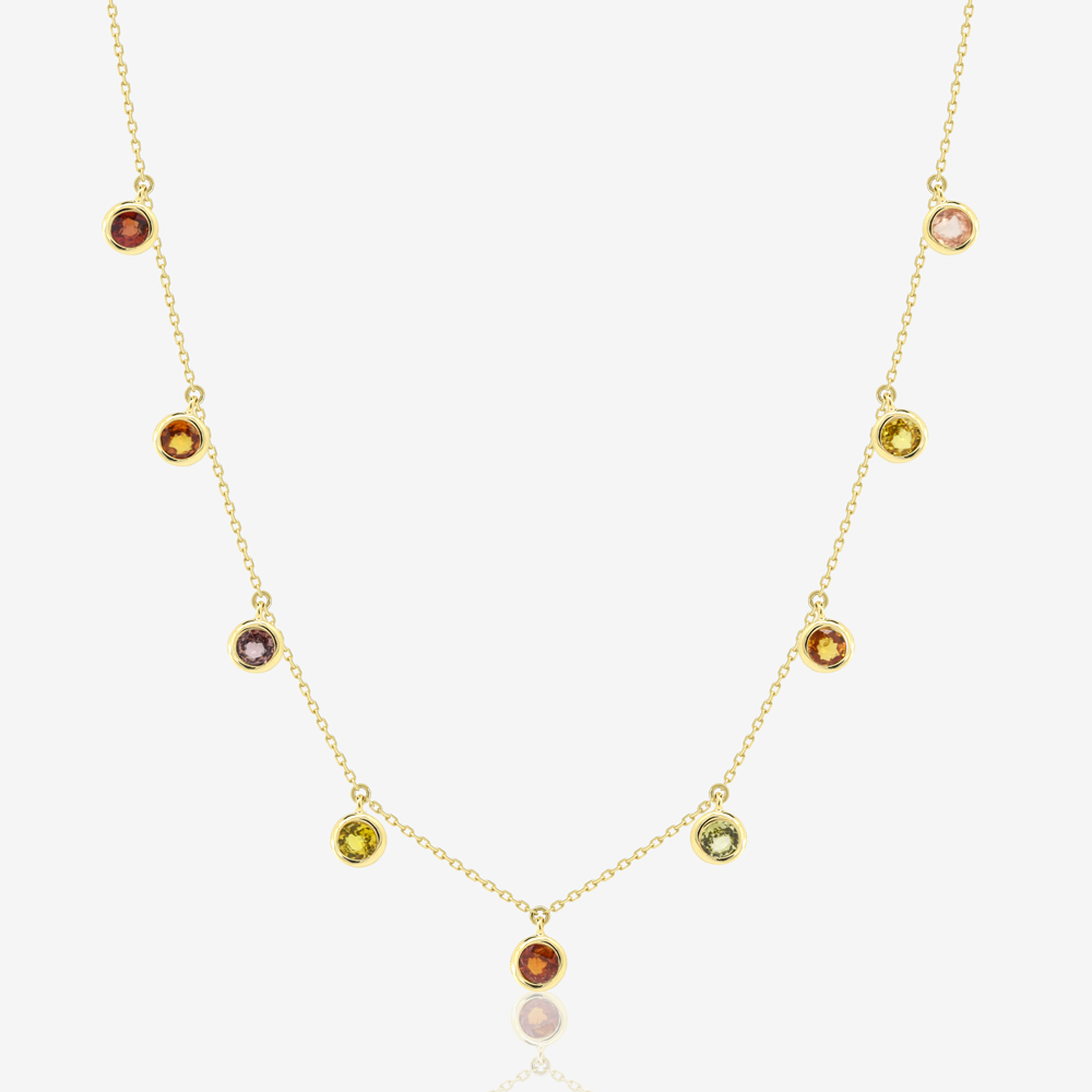 Ponte Necklace in Natural Multicoloured Sapphire