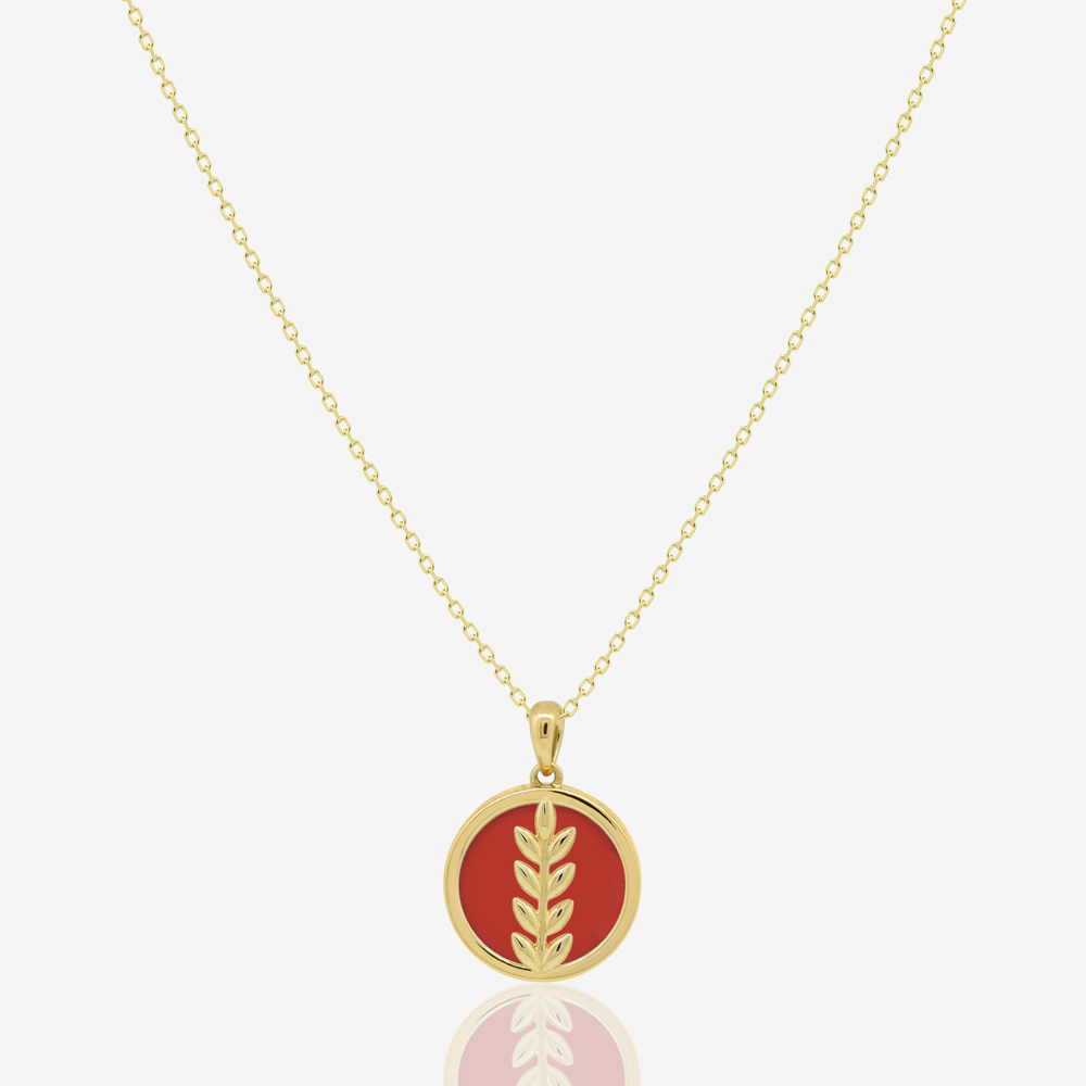 Fortuna Necklace in Red Carnelian