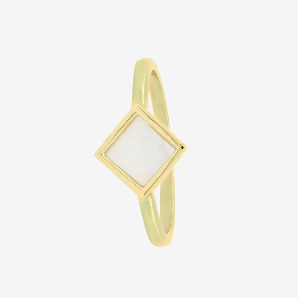 Rhombus Ring in Mother of Pearl