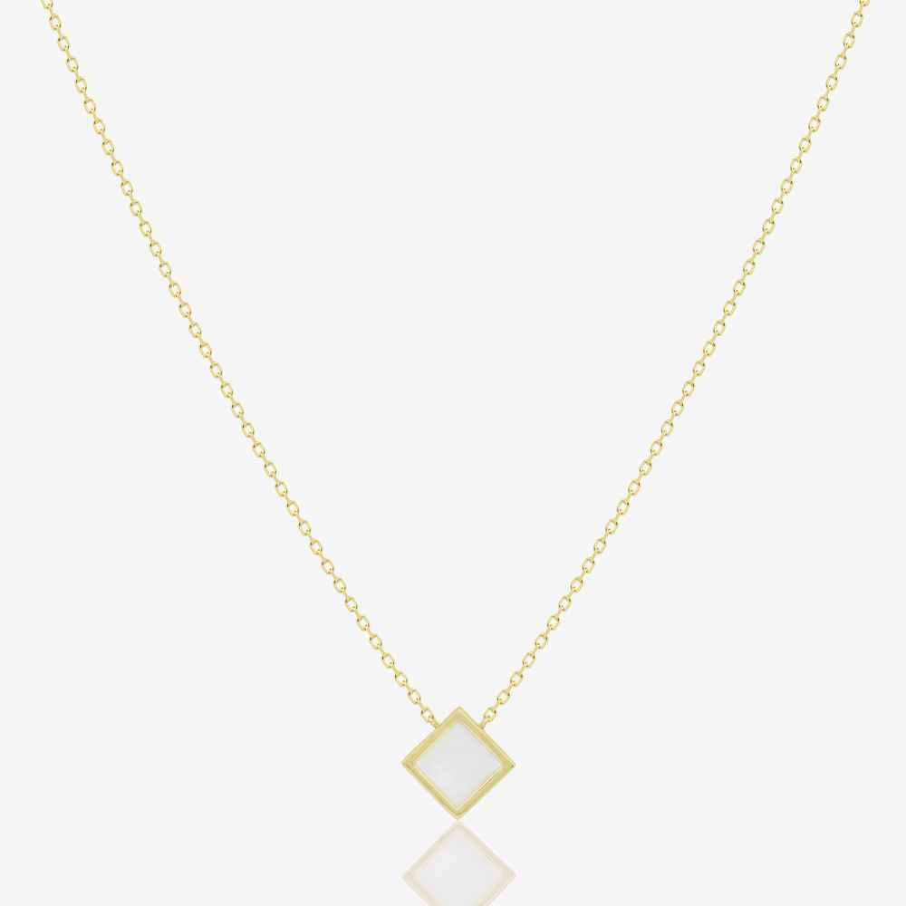 Rhombus Necklace in Mother of Pearl