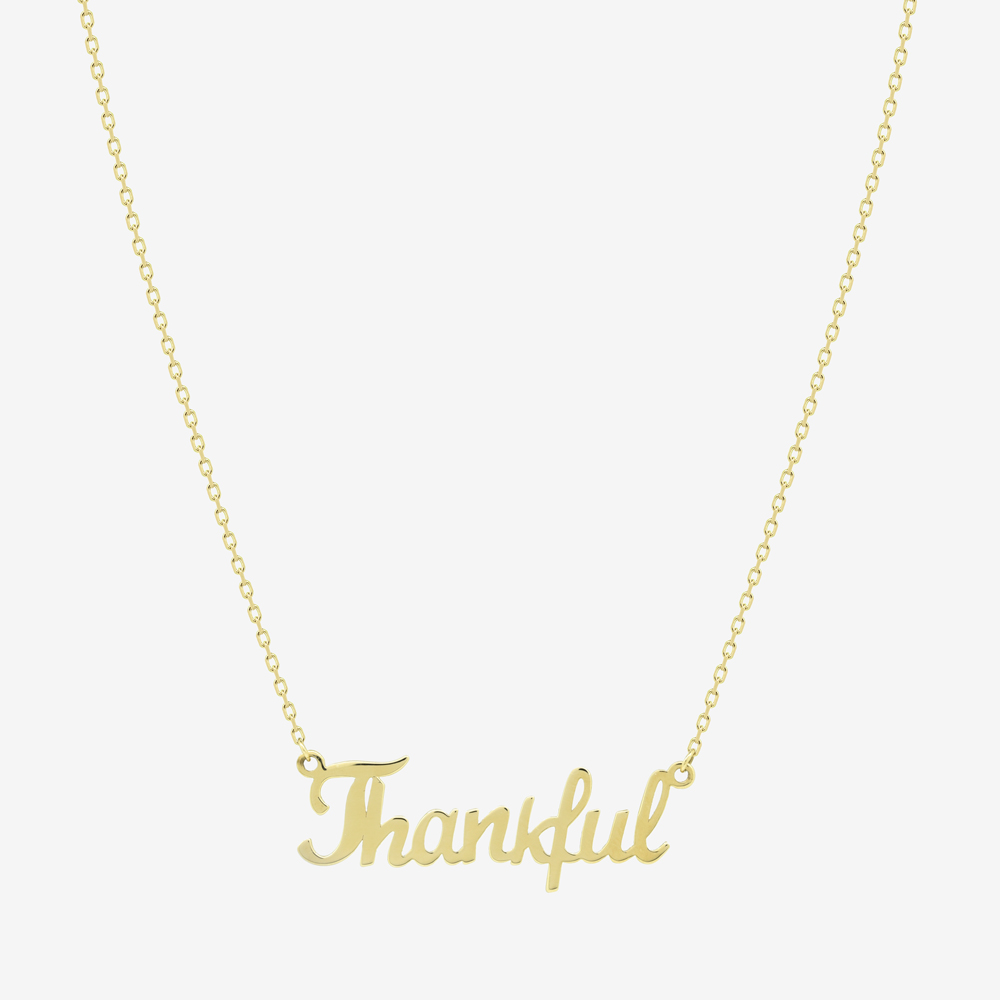Thankful Mantra Necklace