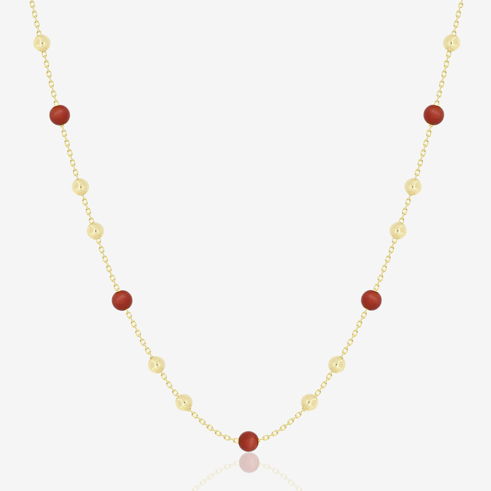 Jala Necklace in Red Coral