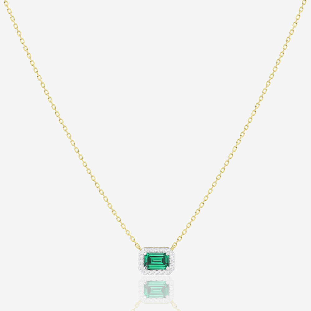 Annie Necklace in Emerald and Diamond