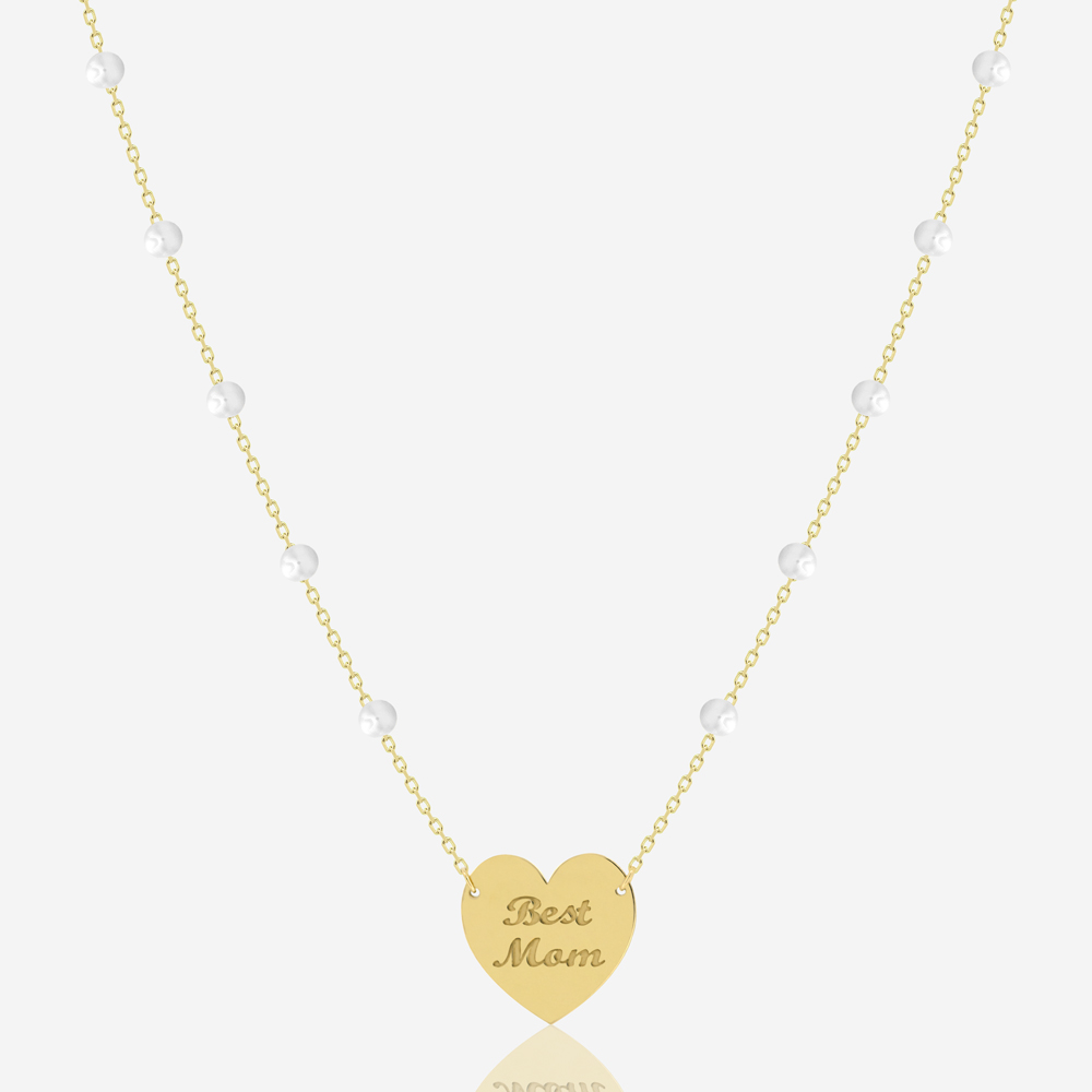 Best Mom Necklace in Freshwater Pearl