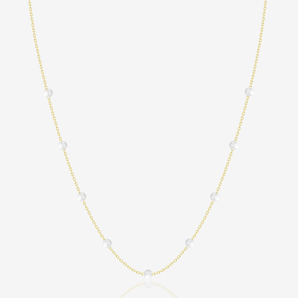 Dotted Pearl Necklace
