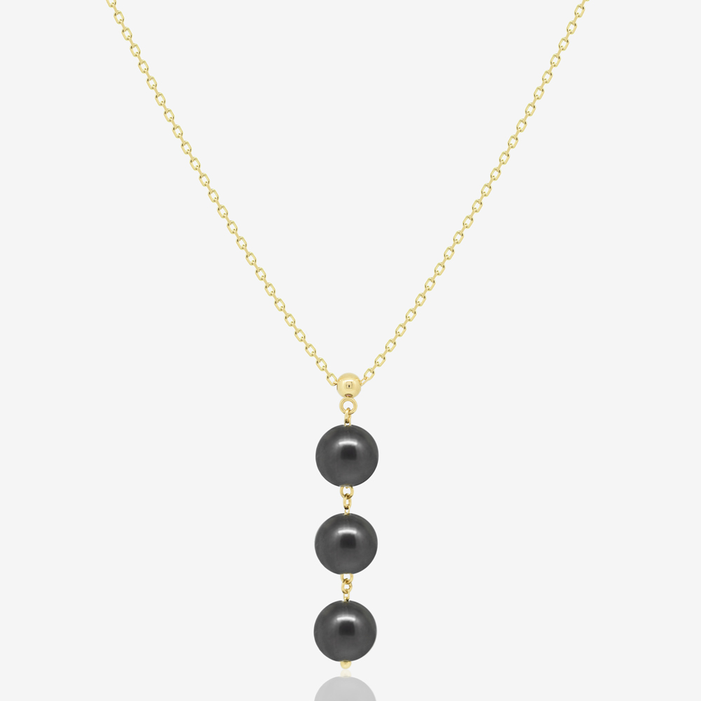 Triple Black Pearl Necklace