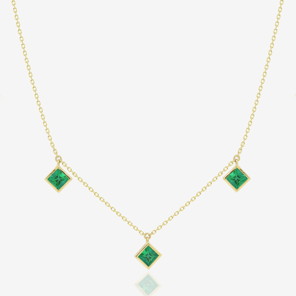 Princess Necklace in Emerald