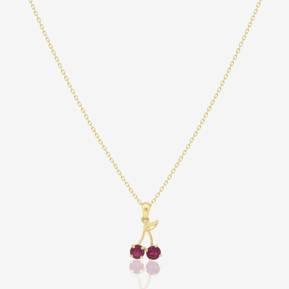 Cherry Necklace in Ruby