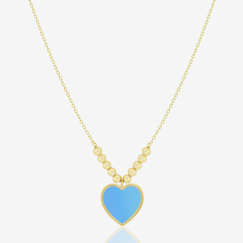 Amore Necklace in Blue Agate