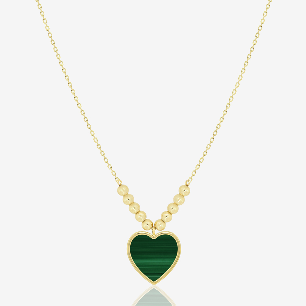 Amore Necklace in Green Malachite