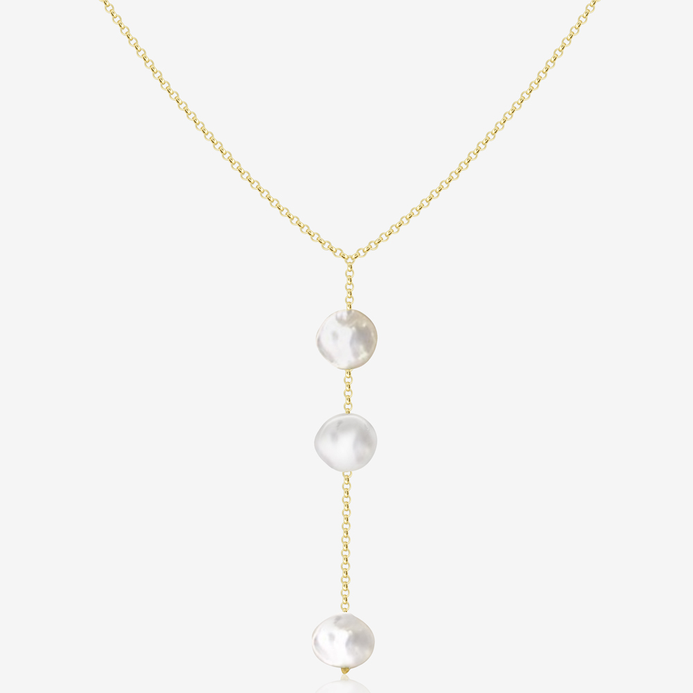 Shelly Necklace in Pearl